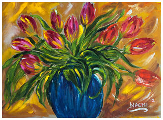 Lively Tulips . Oils 12 x 16