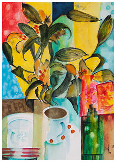Lilly's Coffee Time Watercolour