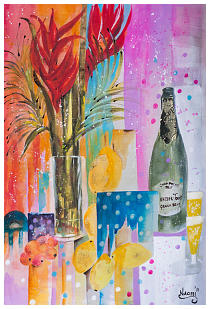 ''Celebration'' Watercolour-Collage