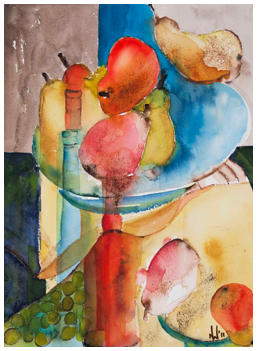 Pear Symphony Watercolour