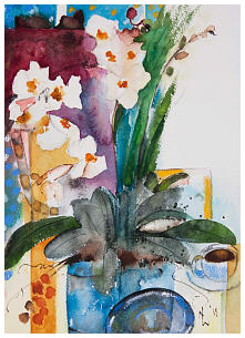 Tranquil Orchids Watercolour