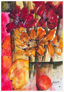 ''Hot Amaryllis'' Watercolour