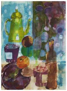 Still Life Watercolour Collage